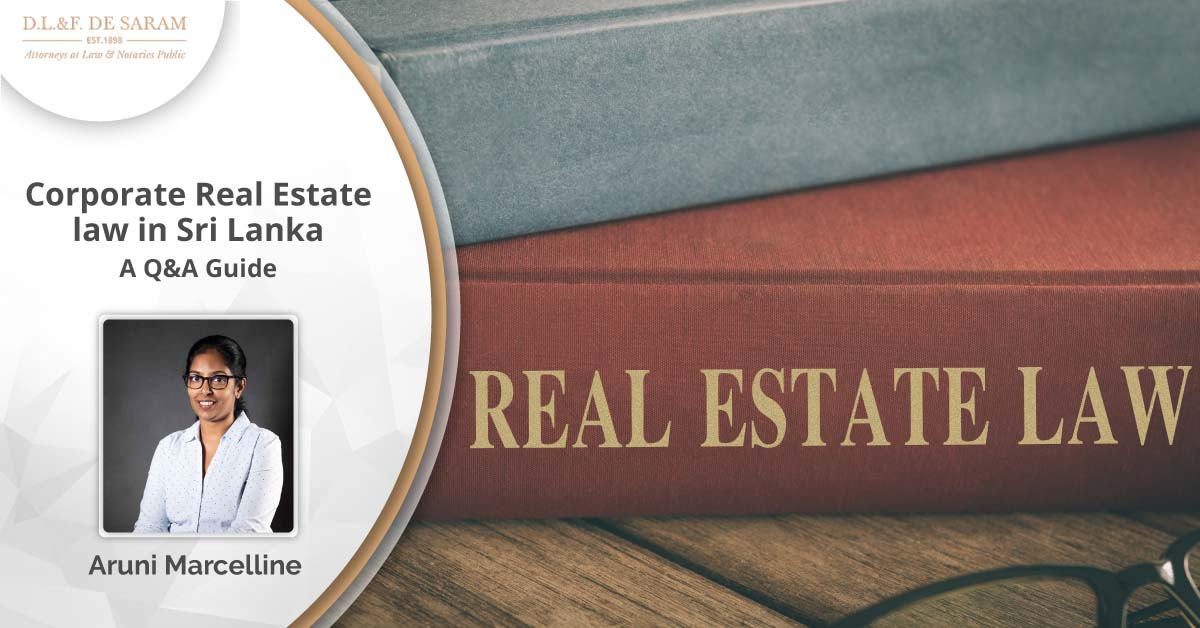 Corporate Real Estate Law in Sri Lanka