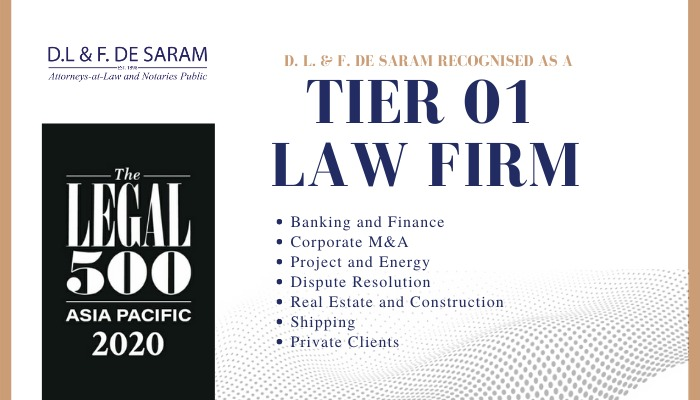 legal500 tier 01  law firm D. L. & F. De Saram