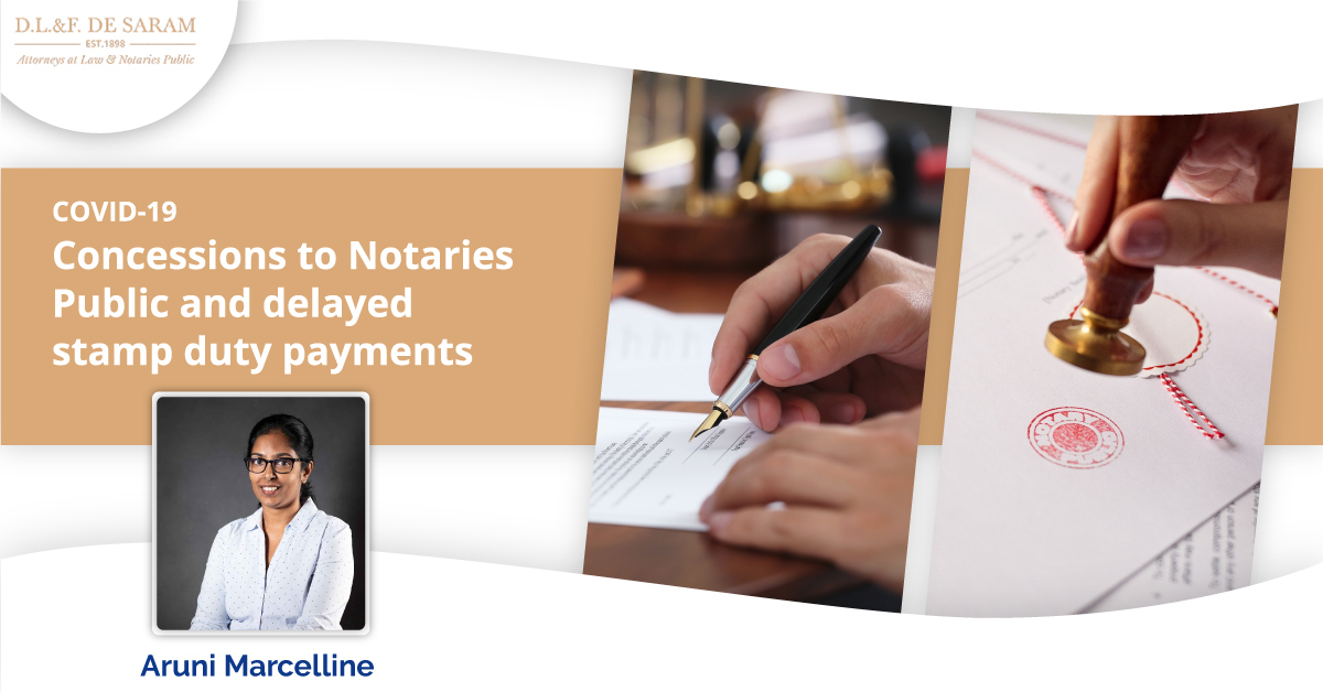 Concessions to Notaries Public and delayed stamp duty payments