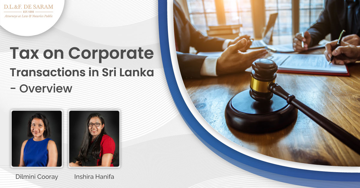 Tax on corporate transactions in Sri Lanka