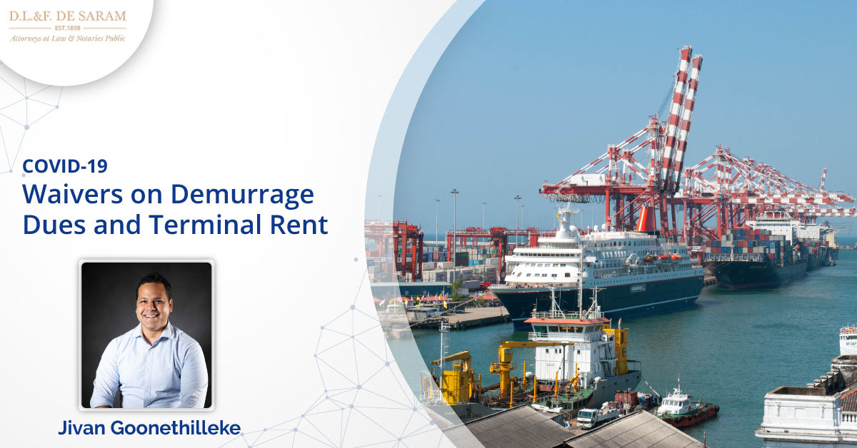 Waivers on Demurrage Dues and Terminal Rent